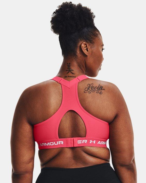 Damen Armour® High Crossback Sport-BH, Pink, pdpMainDesktop image number 6