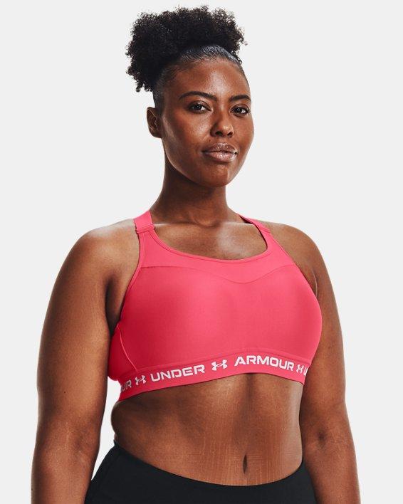 Damen Armour® High Crossback Sport-BH, Pink, pdpMainDesktop image number 3