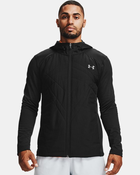 Men's ColdGear® Sprint Hybrid Jacket, Black, pdpMainDesktop image number 2