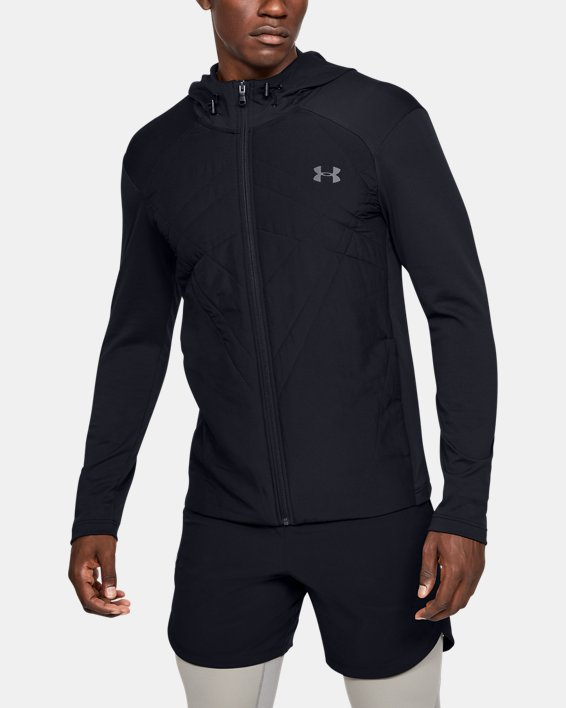 Men's ColdGear® Sprint Hybrid Jacket, Black, pdpMainDesktop image number 0