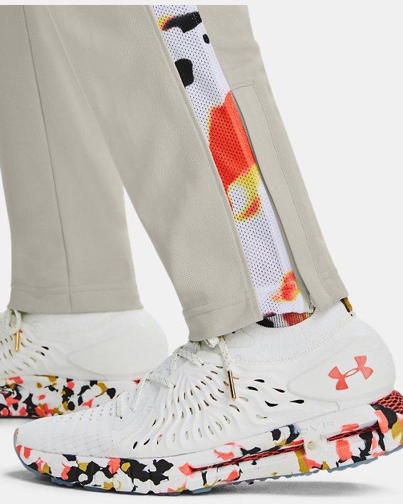Men's UA Sportstyle Pique Upstream Camo Track Pants, White, pdpMainDesktop image number 5