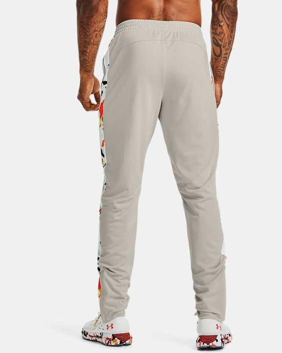 Men's UA Sportstyle Pique Upstream Camo Track Pants, White, pdpMainDesktop image number 2