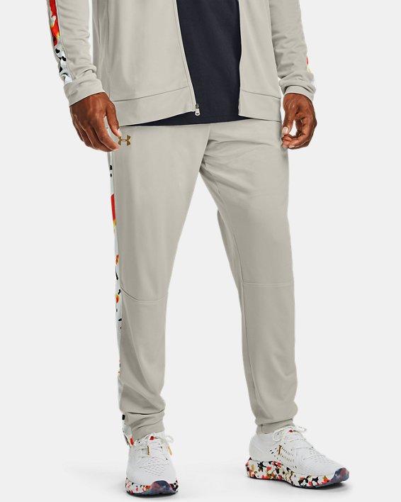 Men's UA Sportstyle Pique Upstream Camo Track Pants, White, pdpMainDesktop image number 1