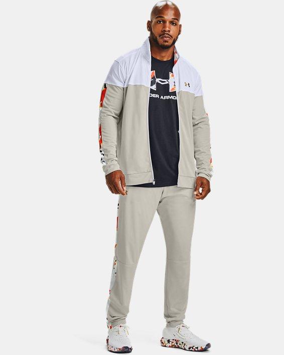 Men's UA Sportstyle Pique Upstream Camo Track Pants, White, pdpMainDesktop image number 0