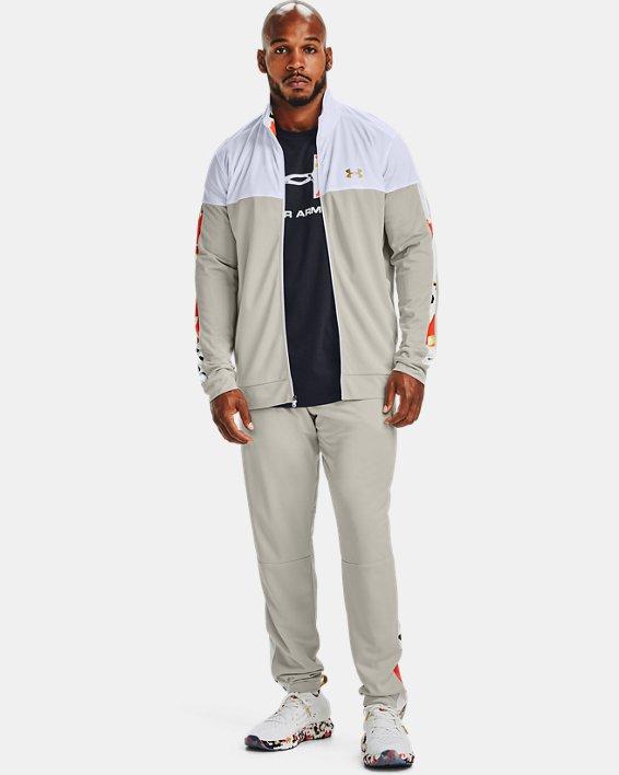 Men's UA Sportstyle Pique Upstream Camo Track Jacket, White, pdpMainDesktop image number 1
