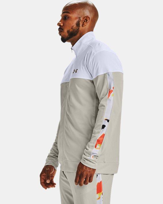 Men's UA Sportstyle Pique Upstream Camo Track Jacket, White, pdpMainDesktop image number 0