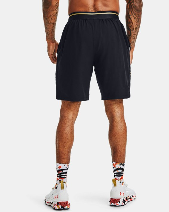 Men's UA Vanish Woven Upstream Camo Shorts, Black, pdpMainDesktop image number 2