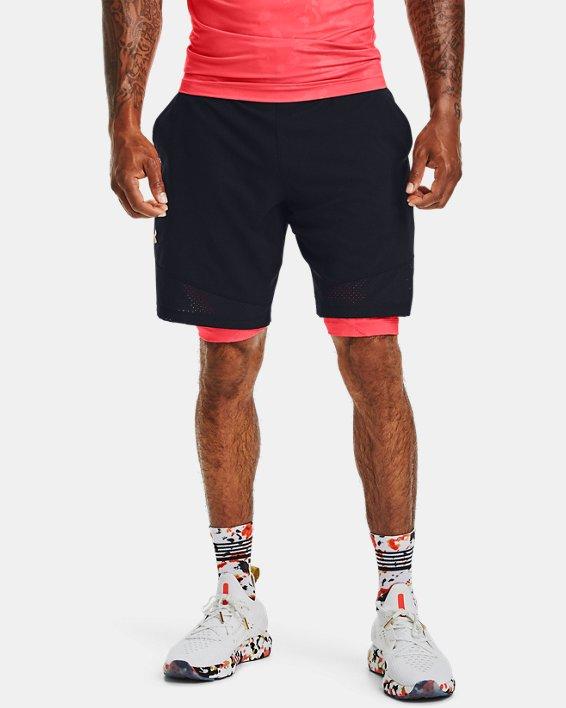 Men's UA Vanish Woven Upstream Camo Shorts, Black, pdpMainDesktop image number 1