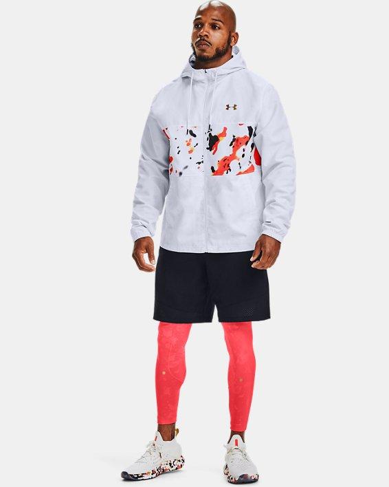 Men's UA Sportstyle Wind Upstream Camo Jacket, White, pdpMainDesktop image number 0
