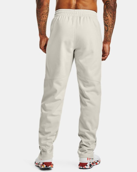 Men's UA RECOVER™ Knit Upstream Camo Warm-Up Pants, White, pdpMainDesktop image number 2
