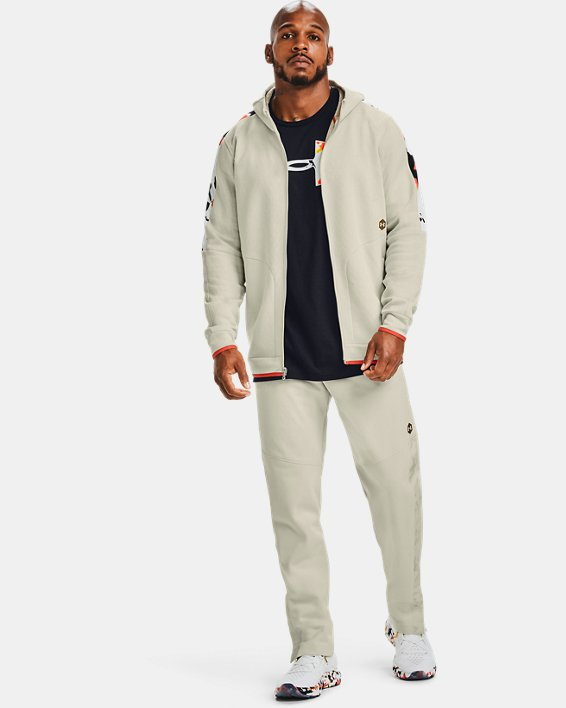 Men's UA RECOVER™ Fleece Upstream Camo Full Zip, White, pdpMainDesktop image number 0