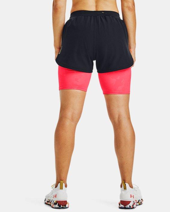 Women's UA RUSH™ Run Upstream Camo 2-in-1 Shorts, Black, pdpMainDesktop image number 2