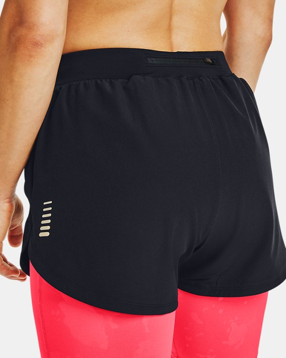 Women's UA RUSH™ Run Upstream Camo 2-in-1 Shorts, Black, pdpMainDesktop image number 5