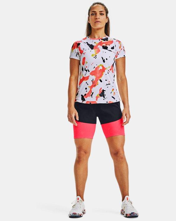 Women's UA RUSH™ Run Upstream Camo 2-in-1 Shorts, Black, pdpMainDesktop image number 0