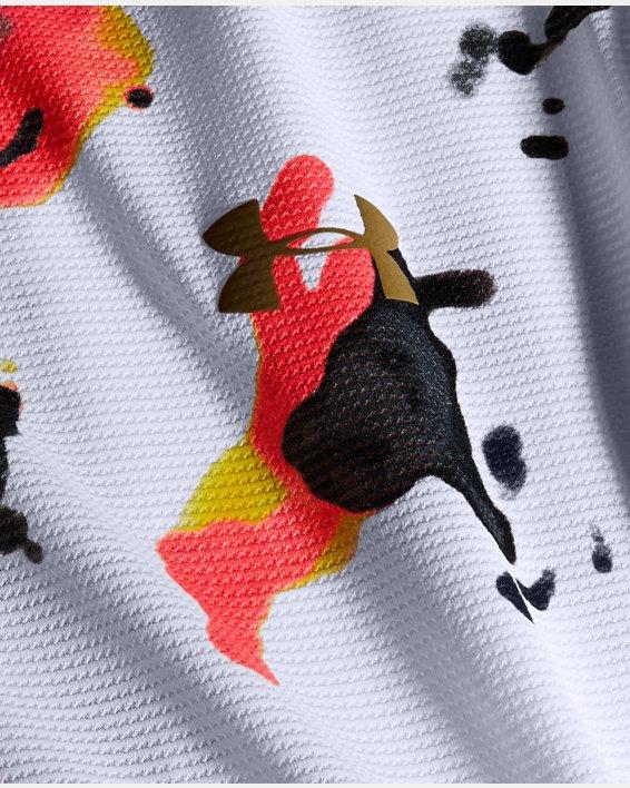 Men's UA Qualifier Run Iso-Chill Upstream Camo Short Sleeve, White, pdpMainDesktop image number 6