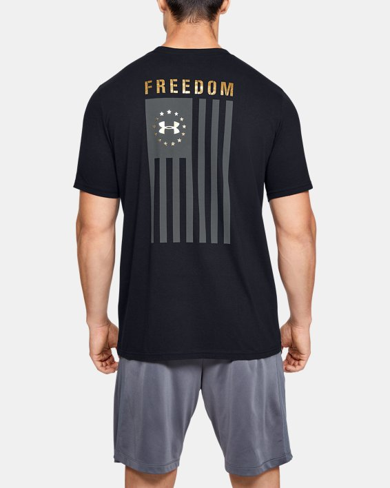 Men's UA Freedom Flag Evade T-Shirt, Black, pdpMainDesktop image number 0