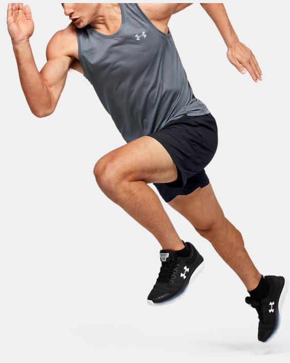 Men's UA Speedpocket 2-in-1 Shorts, Black, pdpMainDesktop image number 1