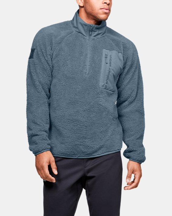 Men's UA Always On Sherpa ¼ Zip, Gray, pdpMainDesktop image number 1