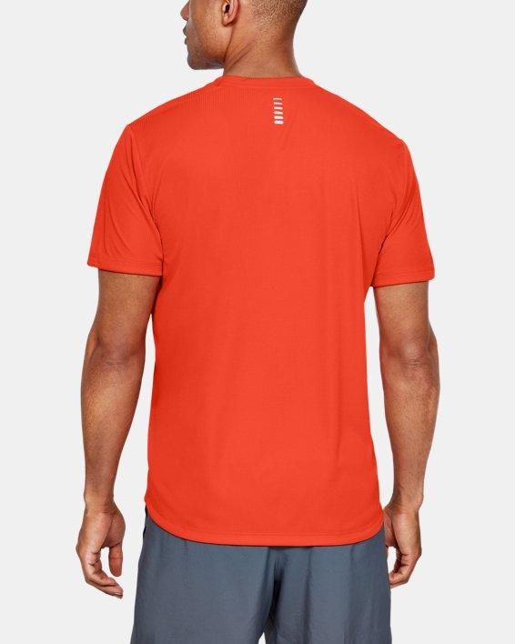 Men's UA Run Graphic Escape T-Shirt, Orange, pdpMainDesktop image number 2