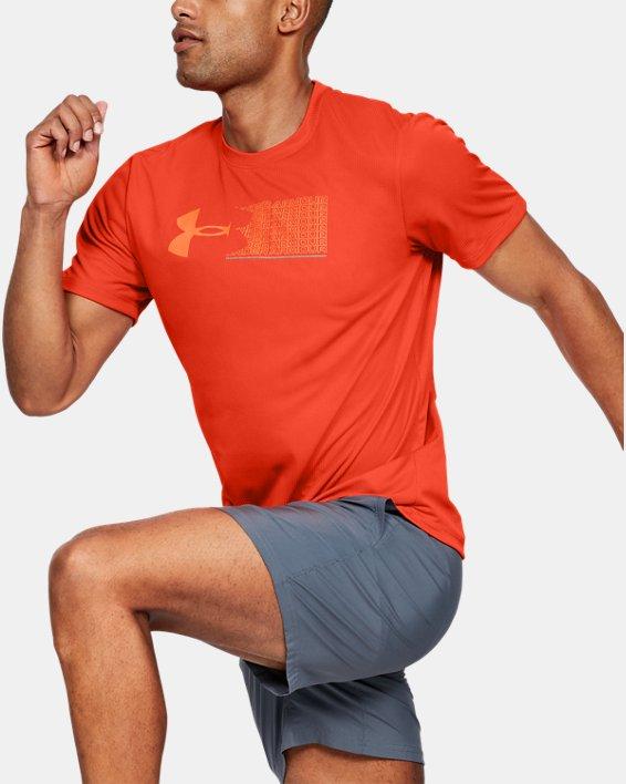 Men's UA Run Graphic Escape T-Shirt, Orange, pdpMainDesktop image number 0