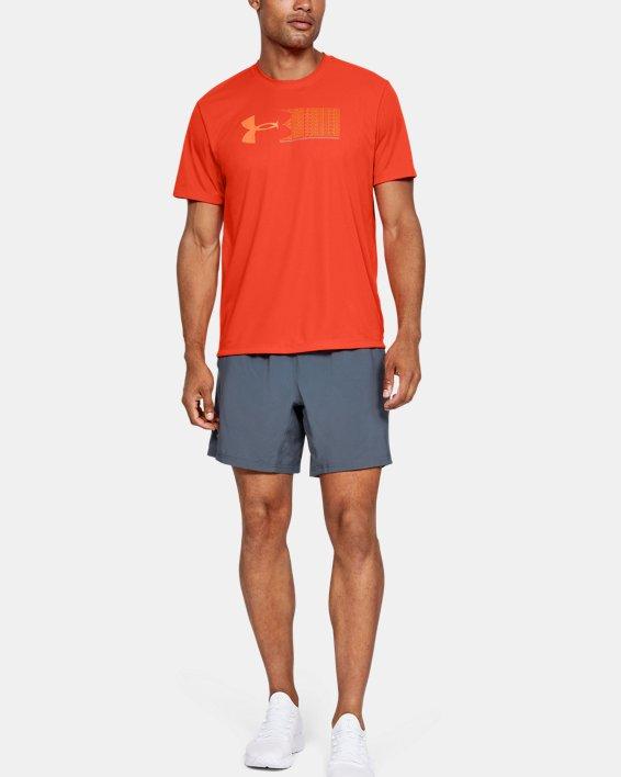 Men's UA Run Graphic Escape T-Shirt, Orange, pdpMainDesktop image number 1