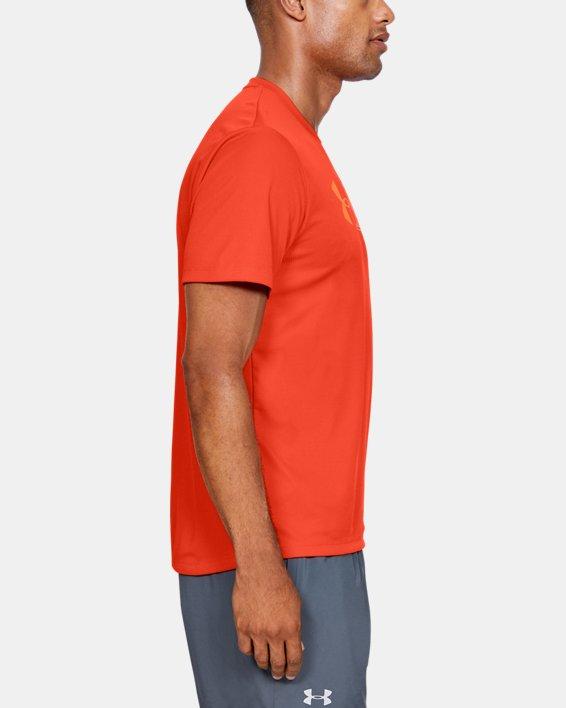 Men's UA Run Graphic Escape T-Shirt, Orange, pdpMainDesktop image number 3