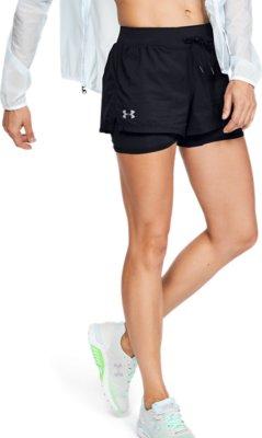 Under Armour Womens Qualifier Speedpocket 2-in-1 Running Shorts