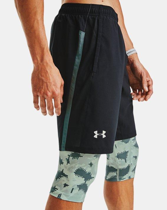 Men's UA Launch SW Long 2-in-1 Printed Shorts, Blue, pdpMainDesktop image number 5