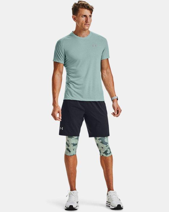 Men's UA Launch SW Long 2-in-1 Printed Shorts, Blue, pdpMainDesktop image number 1
