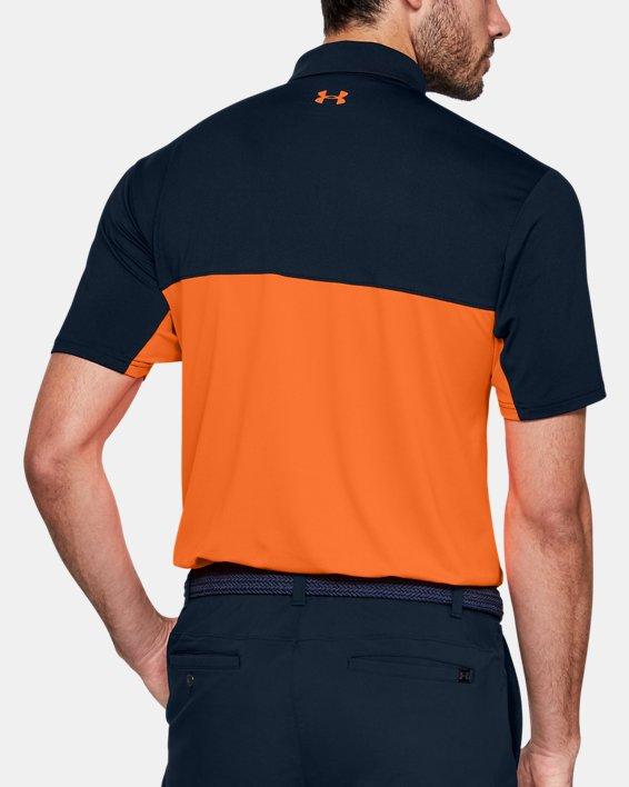Men's UA Performance 2.0 Colorblock Polo, Navy, pdpMainDesktop image number 2