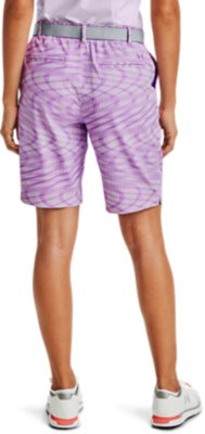 Under Armour Girls Printed Shorts-Purple Sky Youth//X-Small