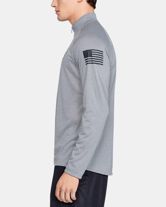 Men's UA Freedom Tech™ 2.0 ½ Zip, Gray, pdpMainDesktop image number 3