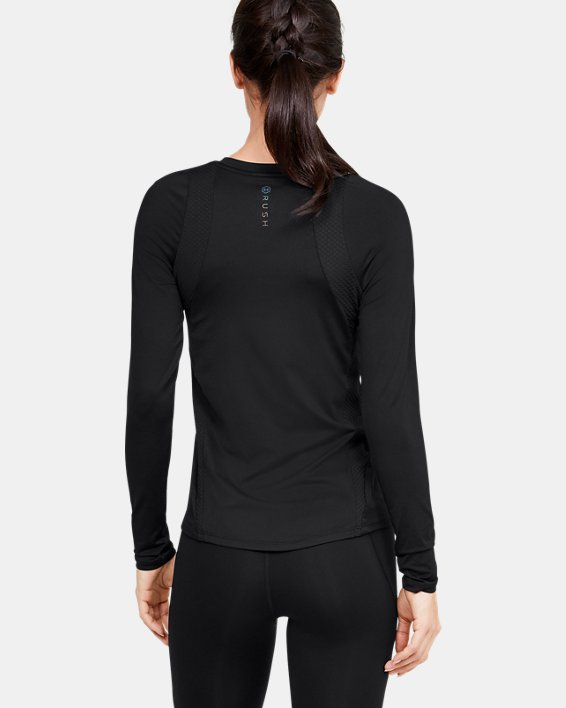 Women's UA RUSH™ Long Sleeve, Black, pdpMainDesktop image number 2