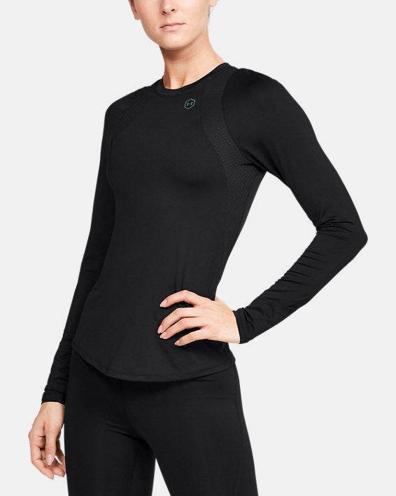 Women's UA RUSH™ Long Sleeve, Black, pdpMainDesktop image number 0