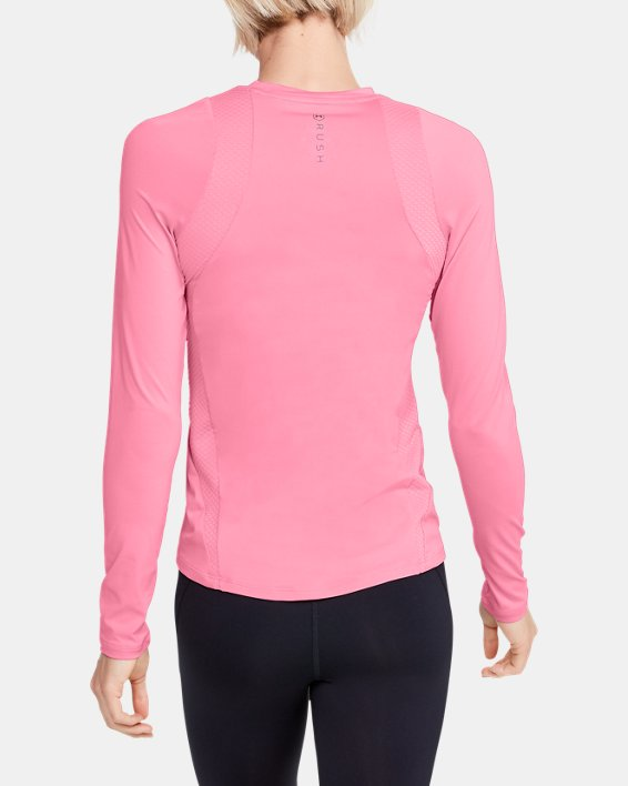 Women's UA RUSH™ Long Sleeve, Pink, pdpMainDesktop image number 2