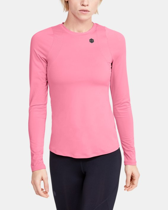 Women's UA RUSH™ Long Sleeve, Pink, pdpMainDesktop image number 0