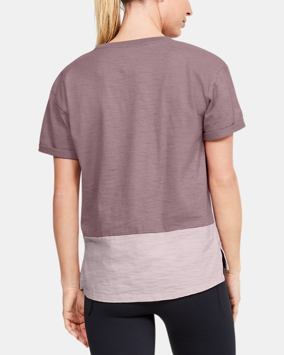 Women's Charged Cotton® Short Sleeve, Pink, pdpMainDesktop image number 2