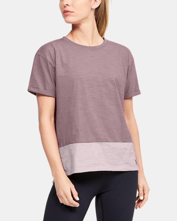 Women's Charged Cotton® Short Sleeve, Pink, pdpMainDesktop image number 1