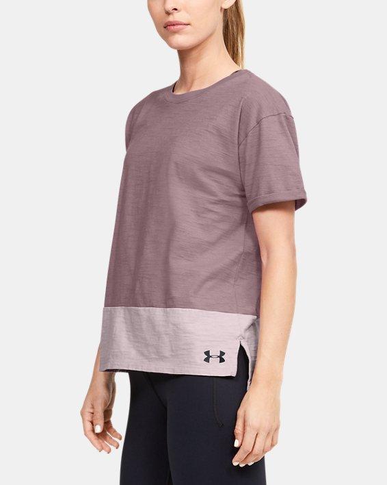 Women's Charged Cotton® Short Sleeve, Pink, pdpMainDesktop image number 3