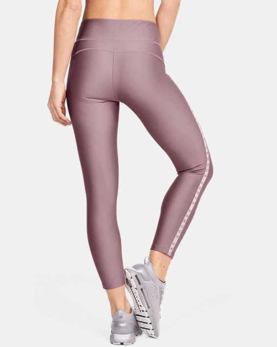 Women's HeatGear® Armour Vertical Branded Ankle Crop, Pink, pdpMainDesktop image number 2