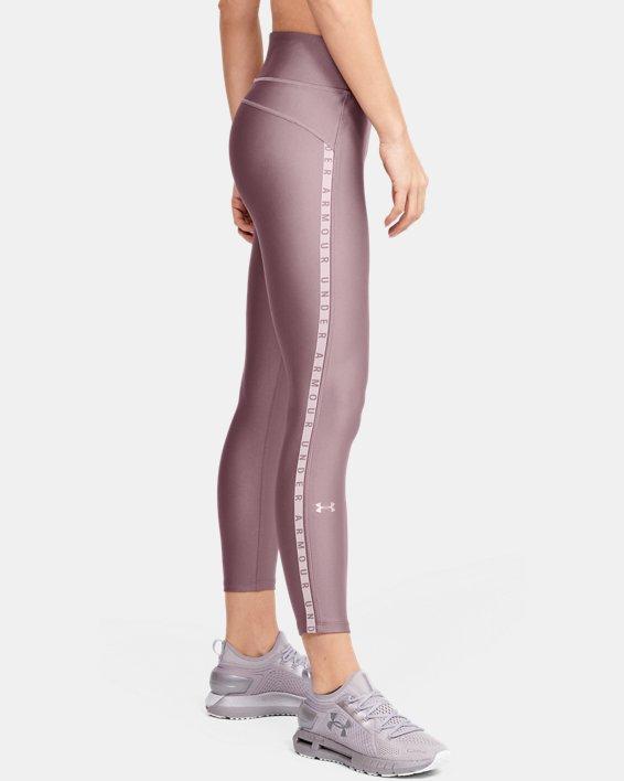 Women's HeatGear® Armour Vertical Branded Ankle Crop, Pink, pdpMainDesktop image number 3