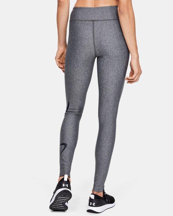 Women's HeatGear® Armour Graphic Swerve Wordmark Leggings, Gray, pdpMainDesktop image number 2
