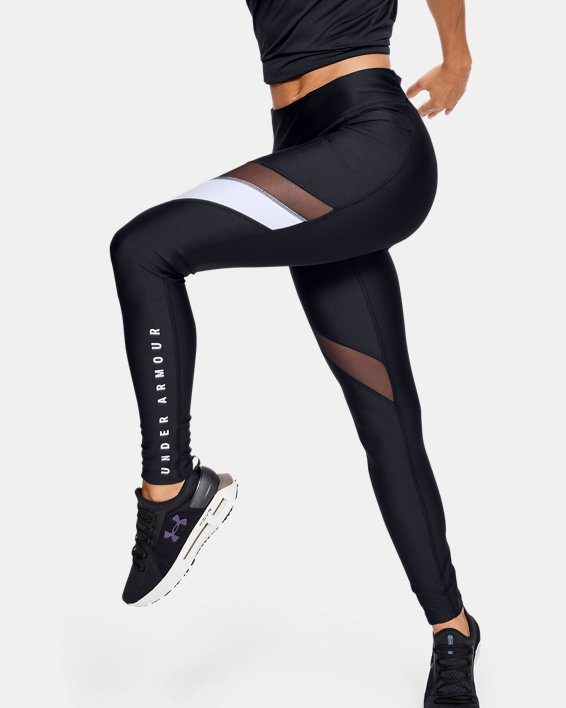 Women's HeatGear® Armour Sport Leggings, Black, pdpMainDesktop image number 0