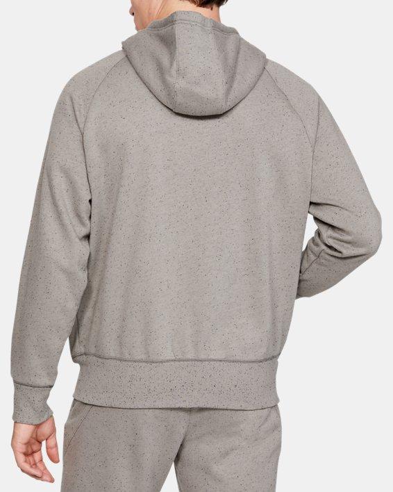 Men's UA Speckled Fleece Full Zip Hoodie, Green, pdpMainDesktop image number 2