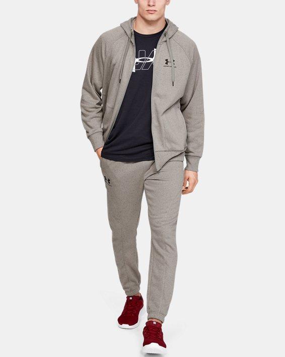 Men's UA Speckled Fleece Full Zip Hoodie, Green, pdpMainDesktop image number 1