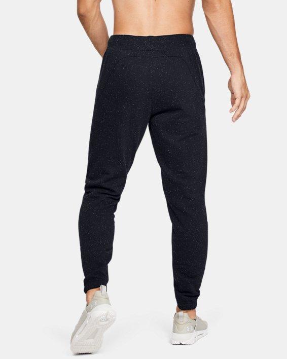 Men's UA Speckled Fleece Joggers, Black, pdpMainDesktop image number 2