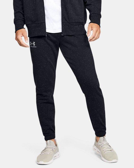 Men's UA Speckled Fleece Joggers, Black, pdpMainDesktop image number 0