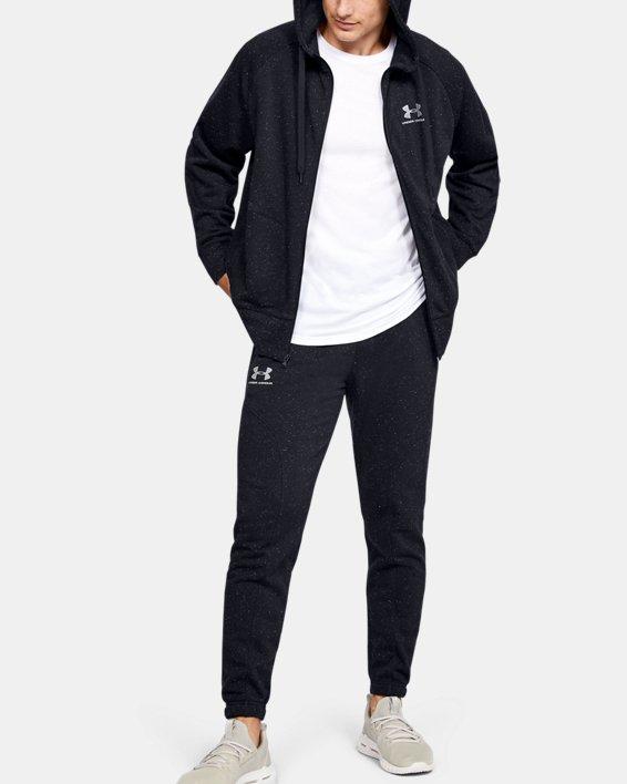 Men's UA Speckled Fleece Joggers, Black, pdpMainDesktop image number 1