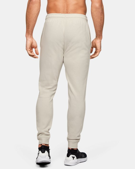 Men's Project Rock Terry Joggers, White, pdpMainDesktop image number 2