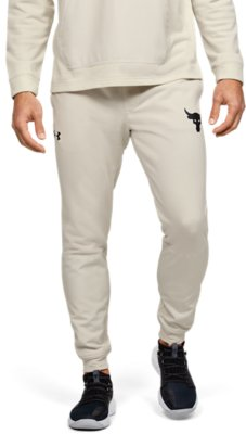 L NWT Under Armour Mens Project Rock Terry Jogger Pants 1345820-408 Sizes M